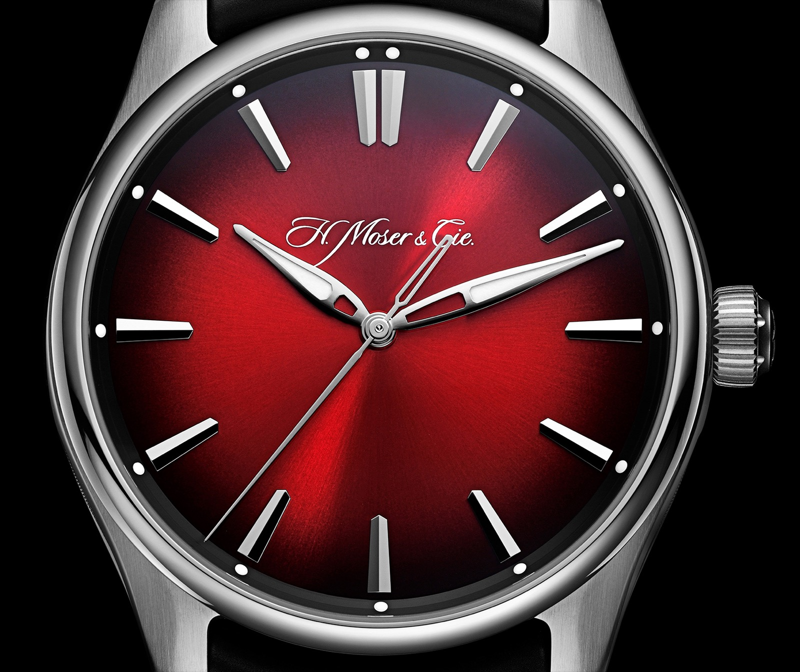 H.Moser & Cie. Pioneer Centre Seconds Swiss Mad Red
