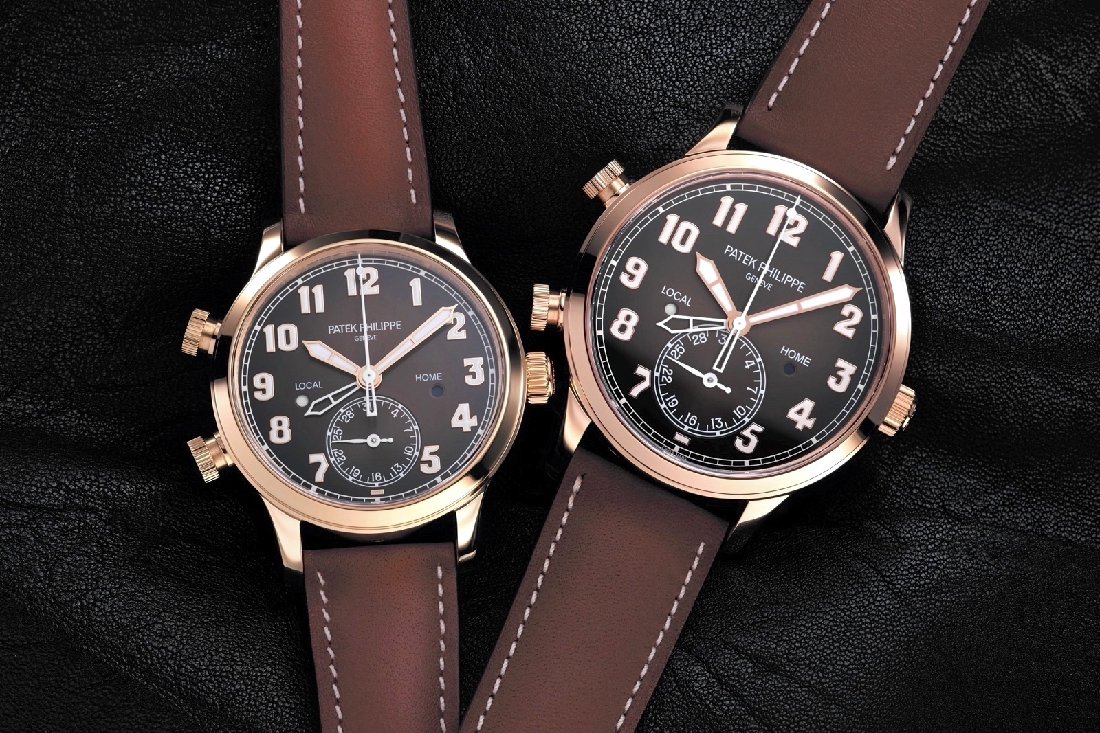 Patek Philippe Calatrava Pilot Travel Time Rose Gold