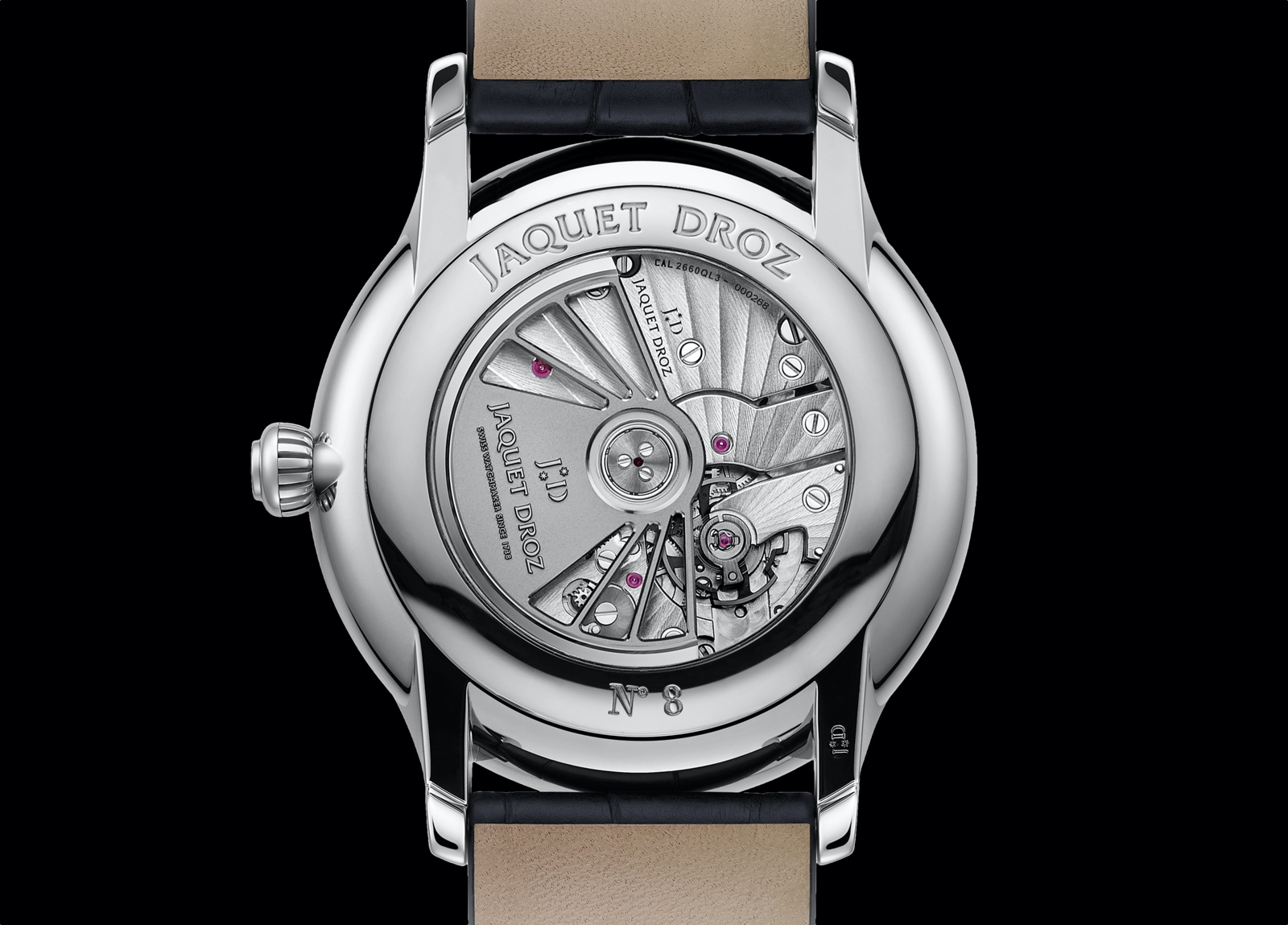 Jaquet Droz Grande Seconde Moon Anthracite - caseback