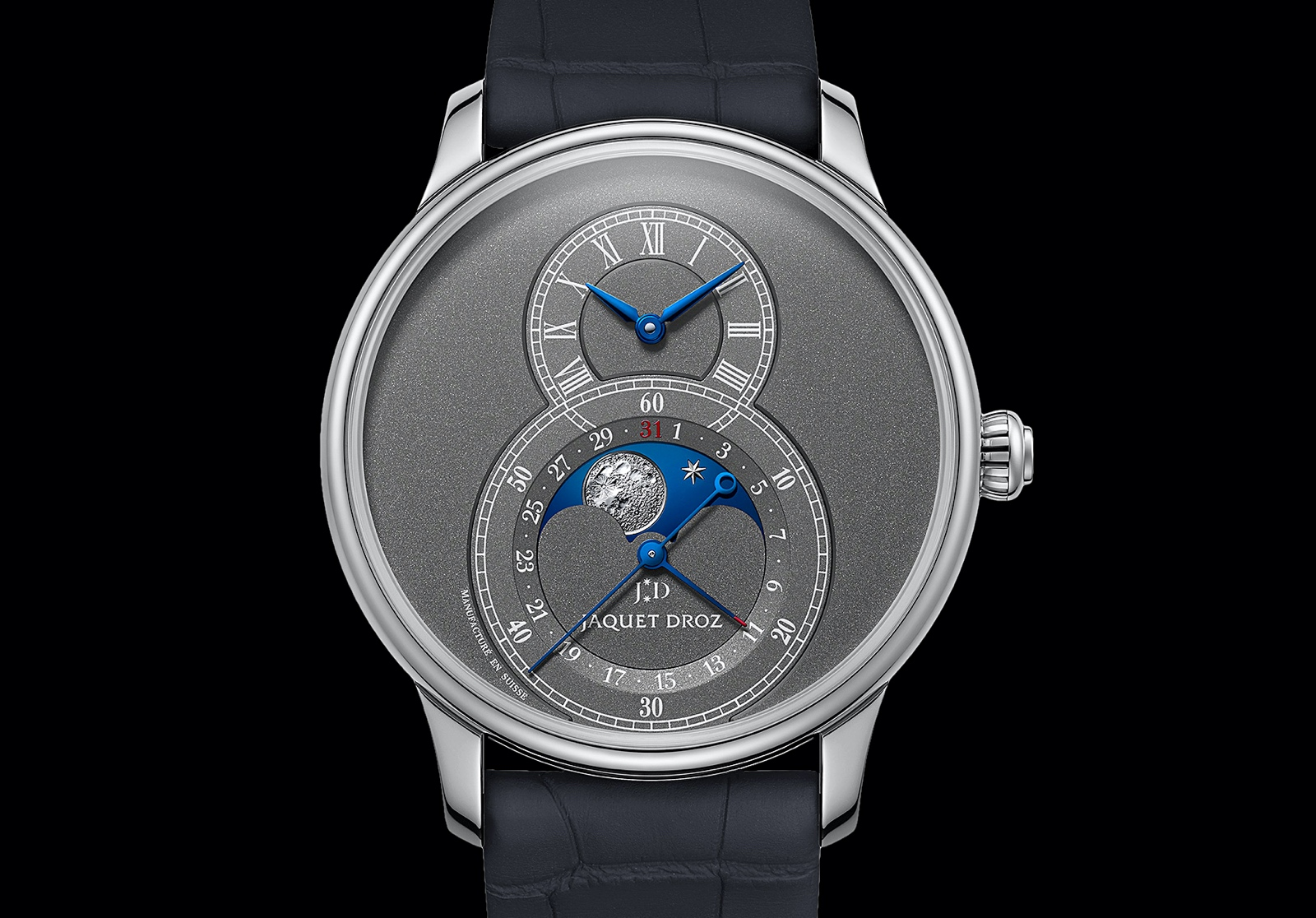 Jaquet Droz Grande Seconde Moon Anthracite - front