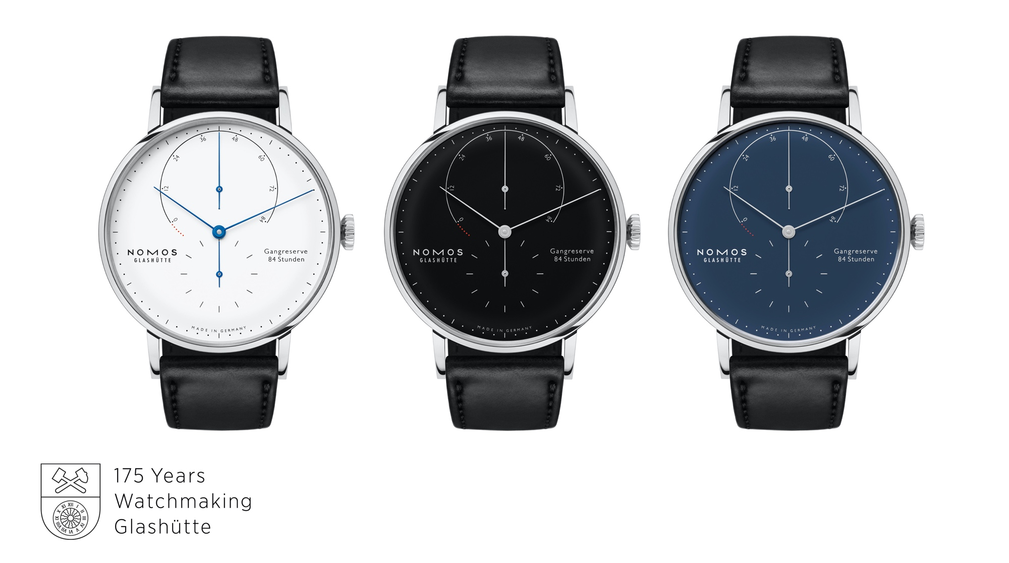 Nomos Lambda 175 Years Watchmaking Glashütte - trio sello