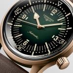 Longines Legend Diver, en bronce y esfera verde… ¡sin fecha!