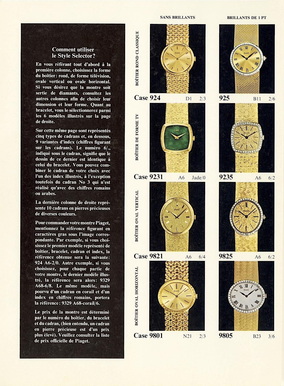 Piaget Style Selector 02
