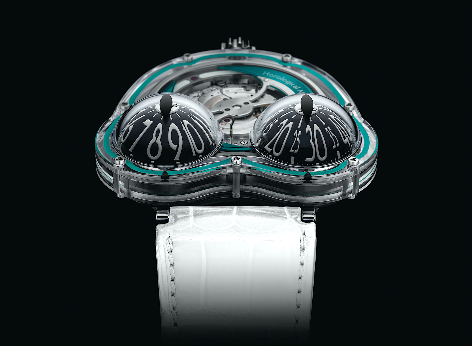 MB&F HM3 FrogX - turquoise face