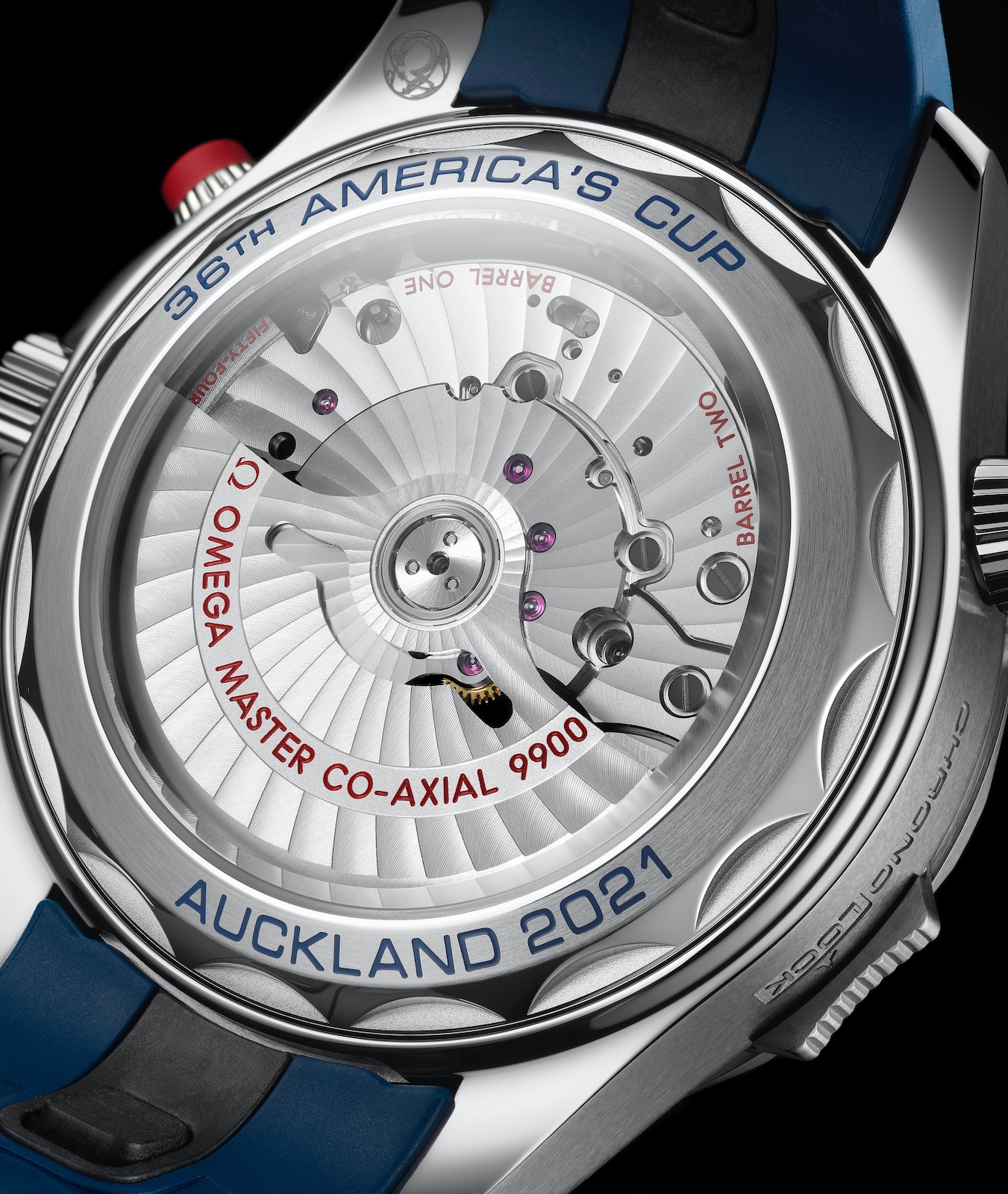 Omega Seamaster Diver 300M Chronograph Americas Cup - caseback