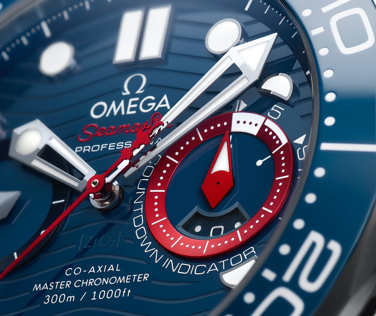 Omega Seamaster Diver 300M Chronograph Americas Cup - dial