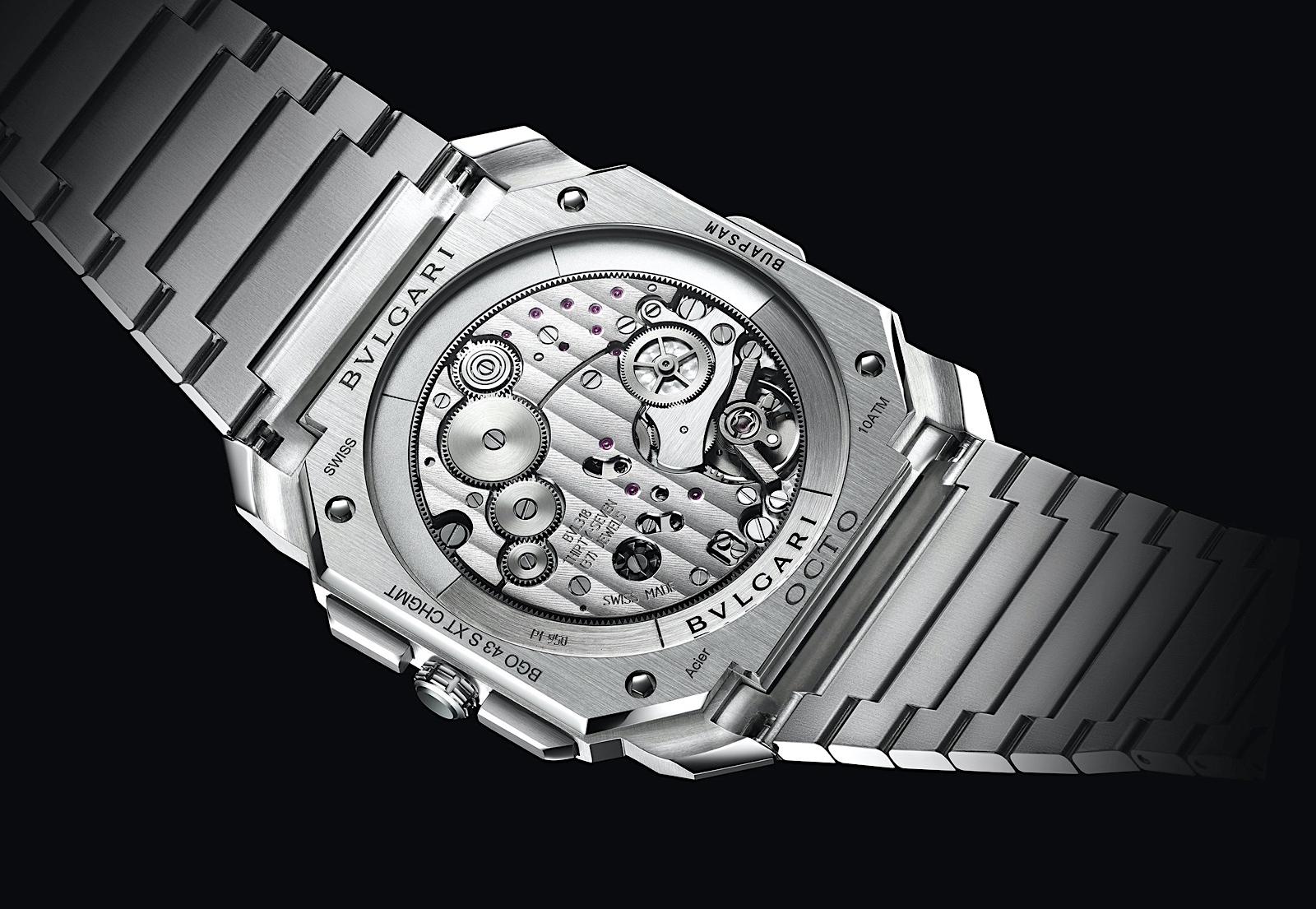 Bvlgari Octo Finissimo S Chronograph GMT - caseback