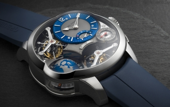 Greubel Forsey GMT Quadruple Tourbillon, en titanio