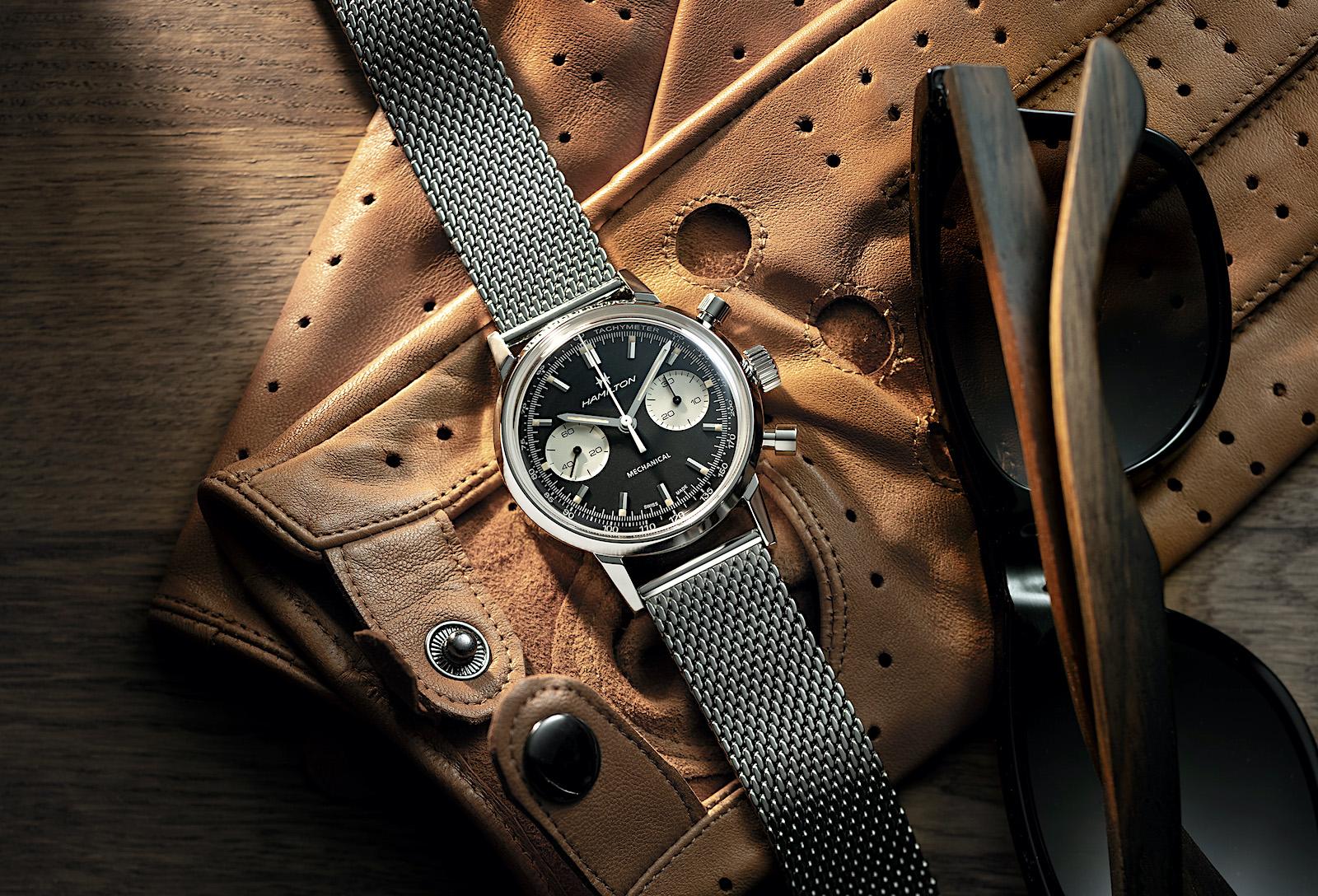 Hamilton American Classic Intra-Matic Chronograph H - black steel