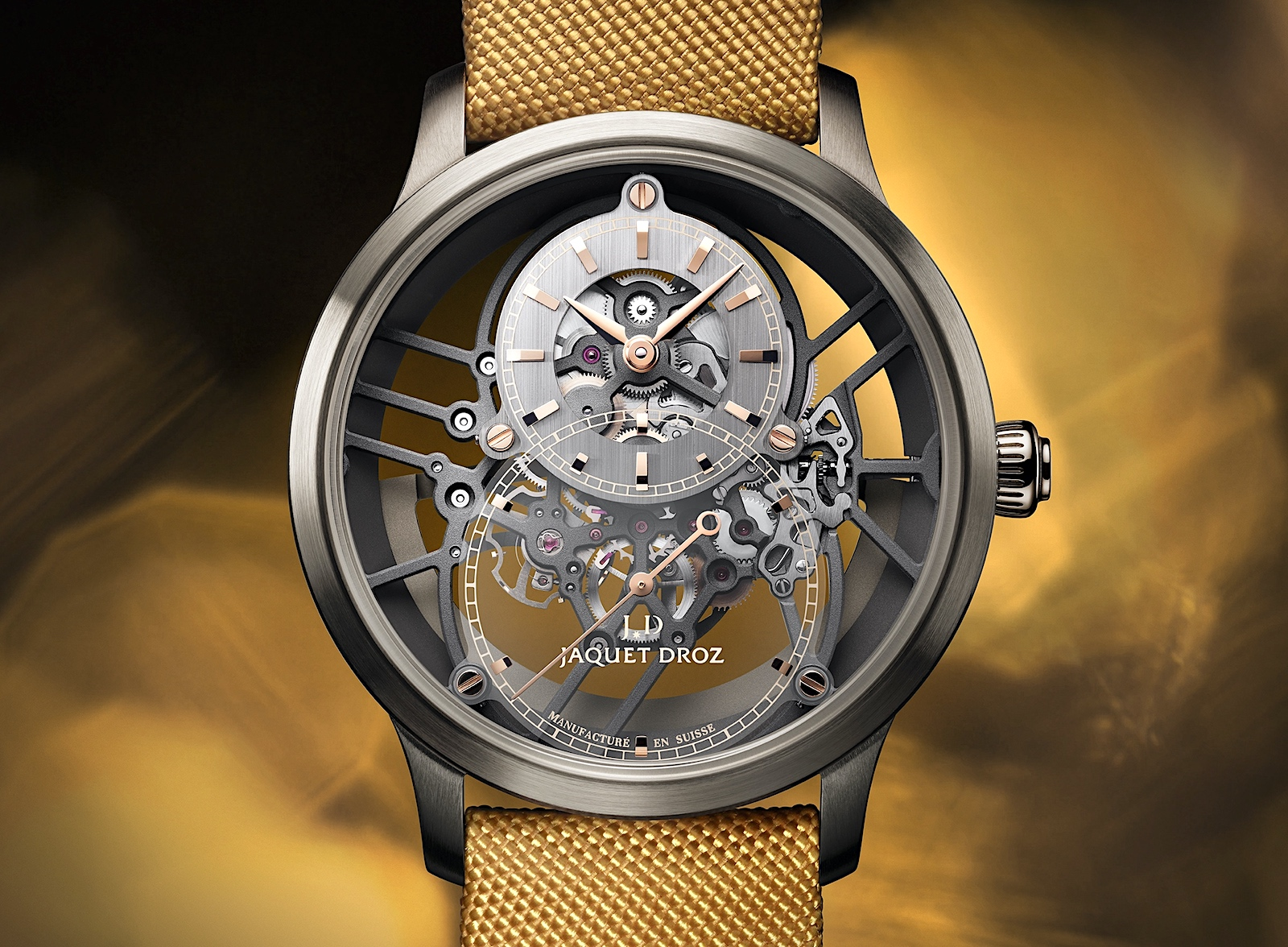 Jaquet-Droz Grande Seconde Skelet-One Ceramic 2021 - yellow dial