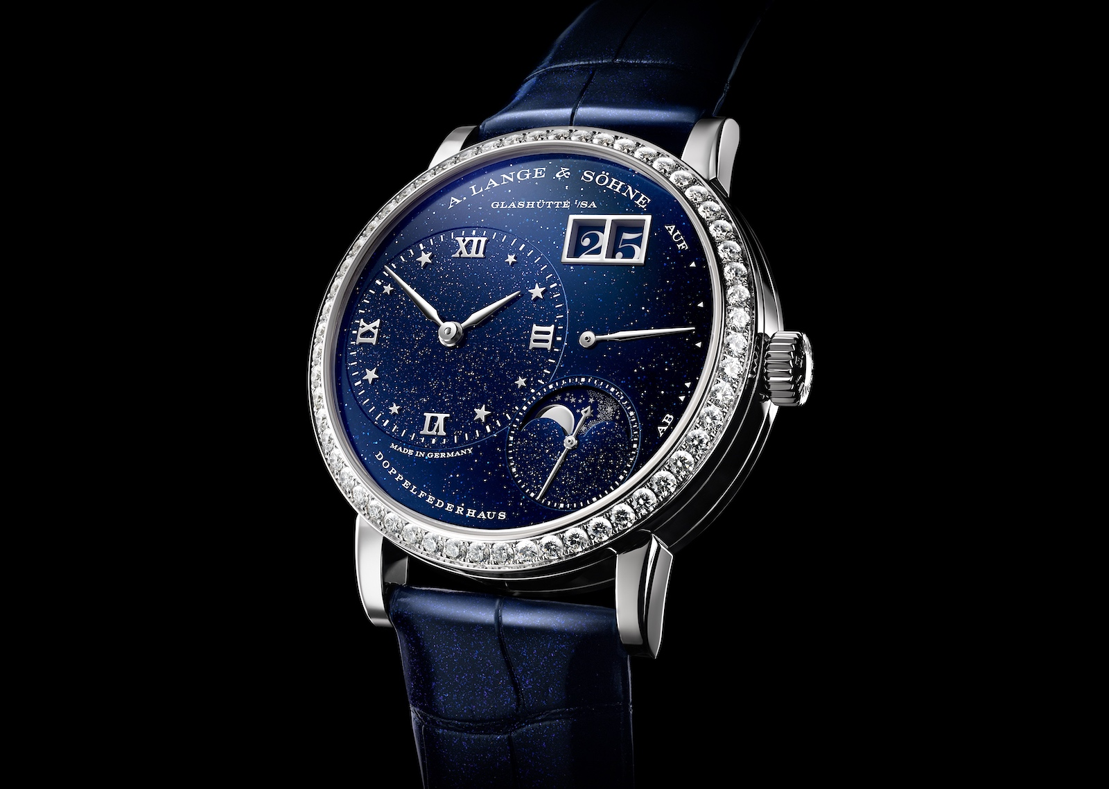 A. Lange & Söhne en Watches and Wonders 2021 - Little Lange 1 Moon Phase diamonds