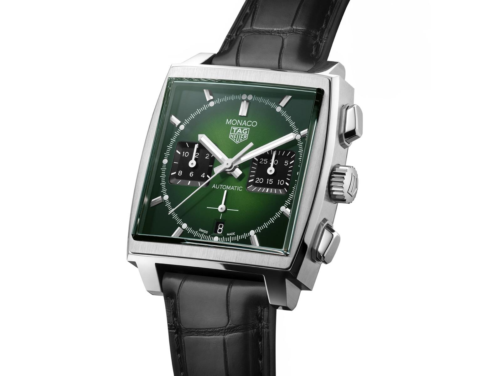 TAG Heuer Monaco Green Dial Calibre Heuer 02