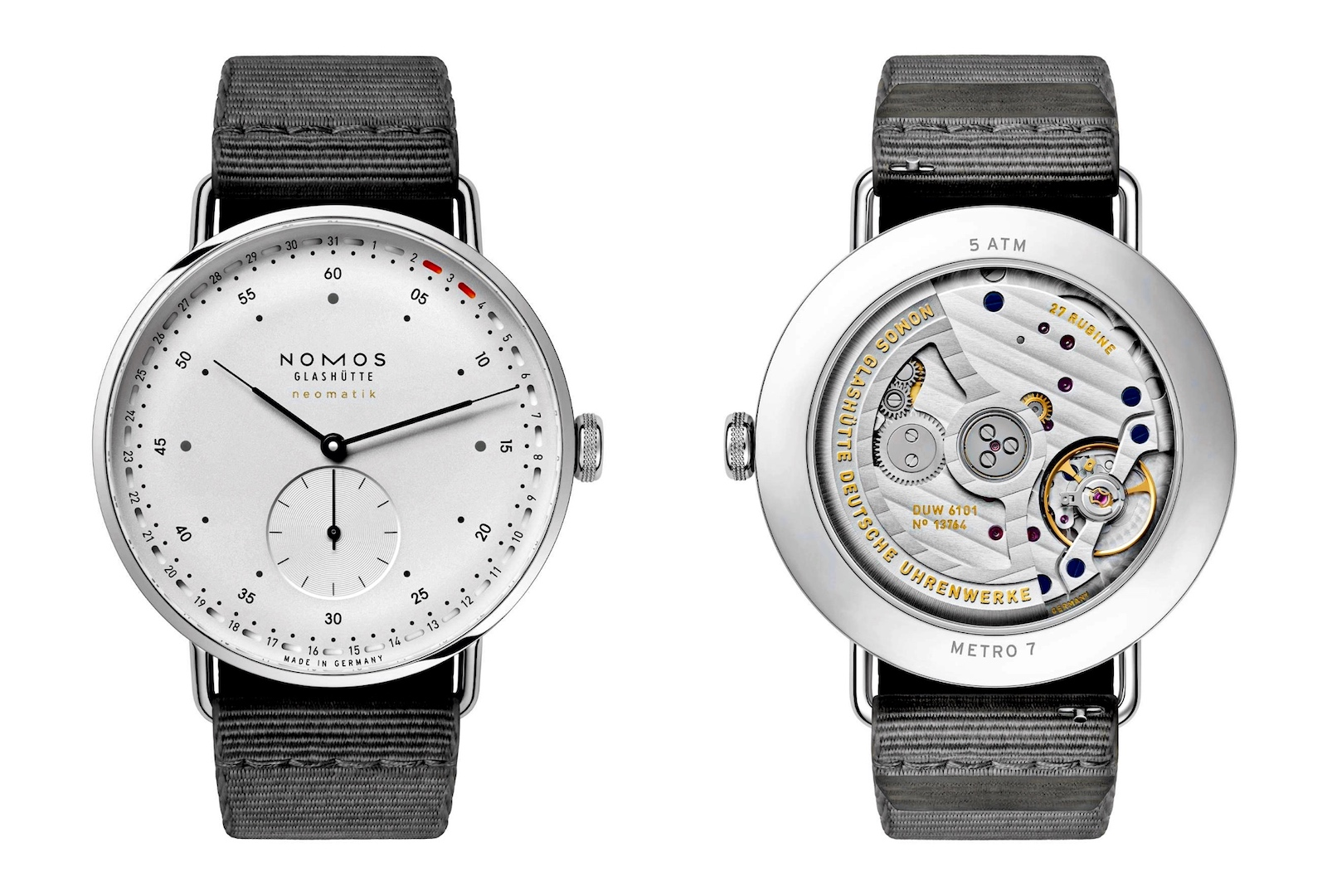 Nomos en Watches and Wonders 2021 - Metro Neomatic 42 Update, front-back