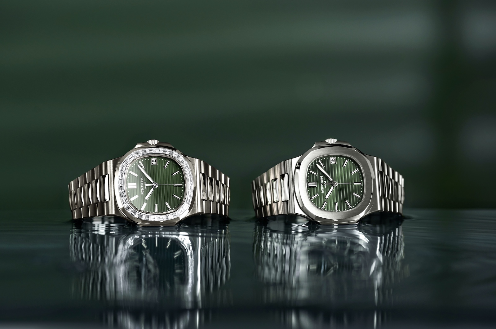 Patek Philippe en Watches and Wonders 2021 - Nautilus duo verde