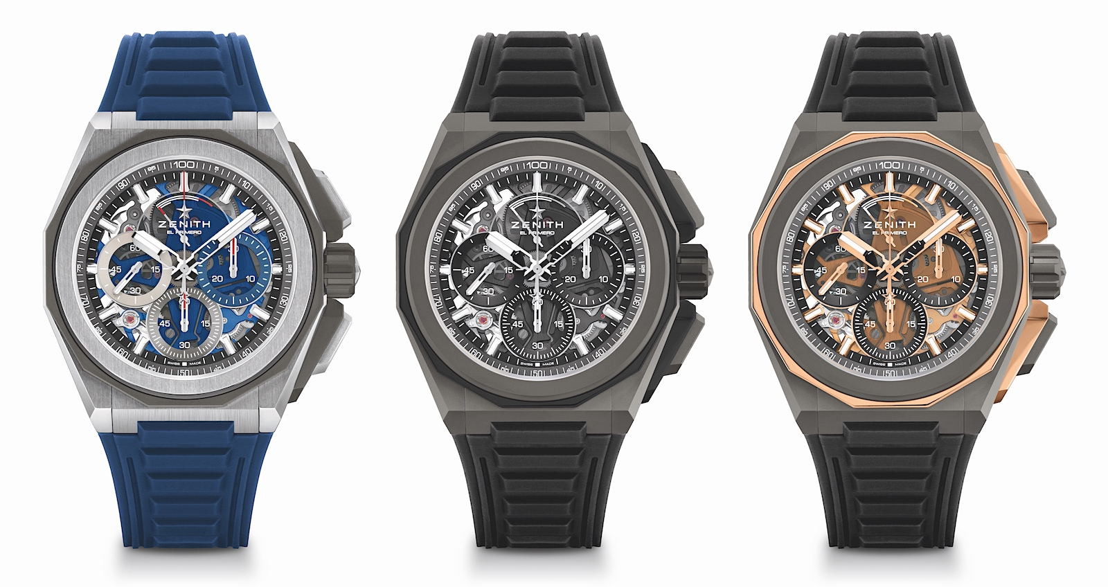 Zenith en Watches and Wonders 2021 - Defy Extreme trio