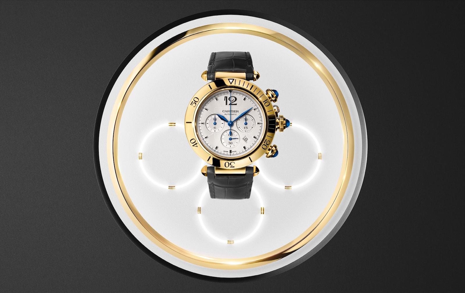 Cartier Pasha Chronograph - gold