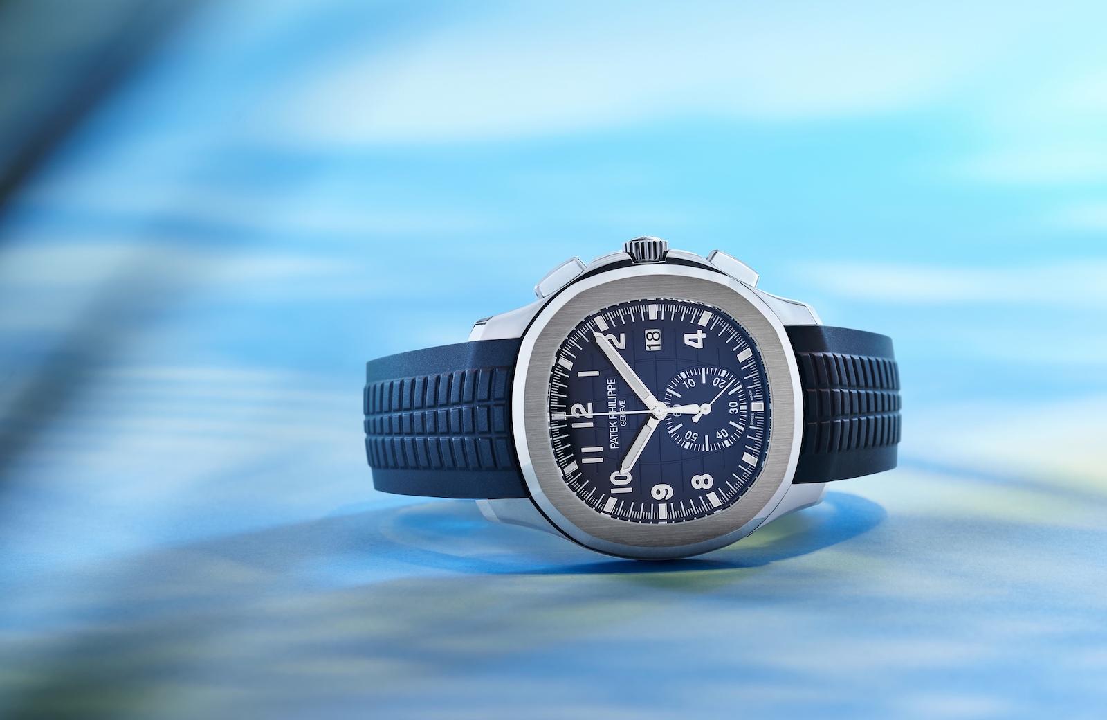 Patek Philippe Aquanaut Chronograph 5968G - blue