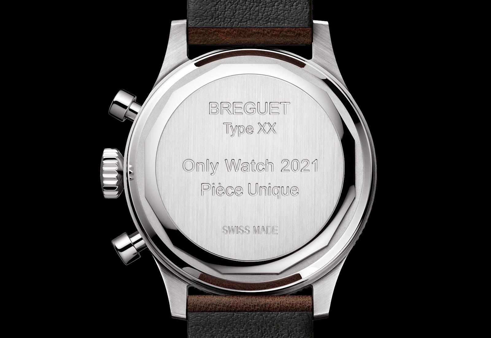 Breguet Type XX Only Watch 2021 - caseback
