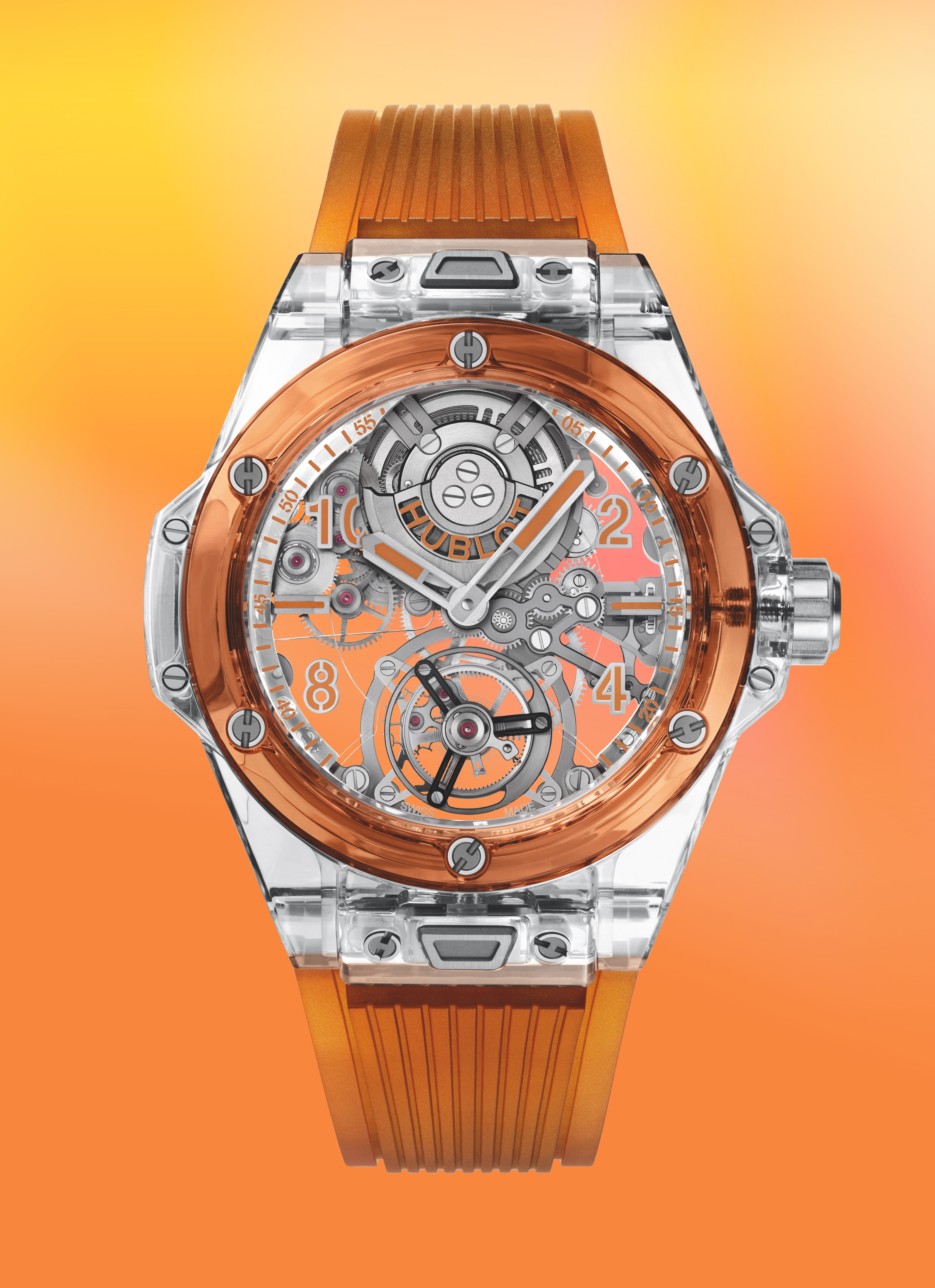 Hublot Big Bang Tourbillon Only Watch - front orange 1