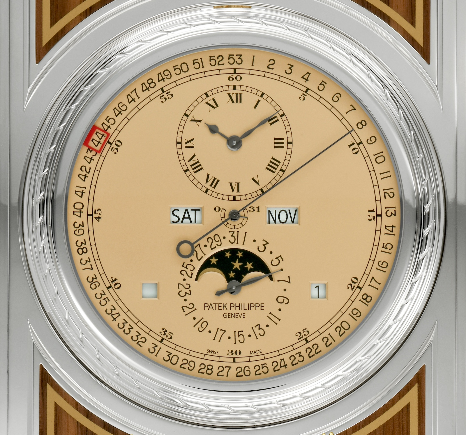 Patek Philippe Complicated Desk Clock 27001M-001 - esfera