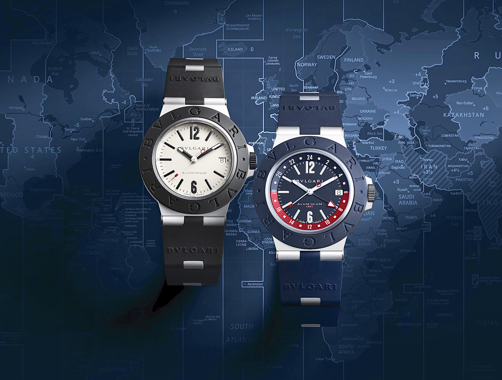Bulgari Aluminium GMT - duo