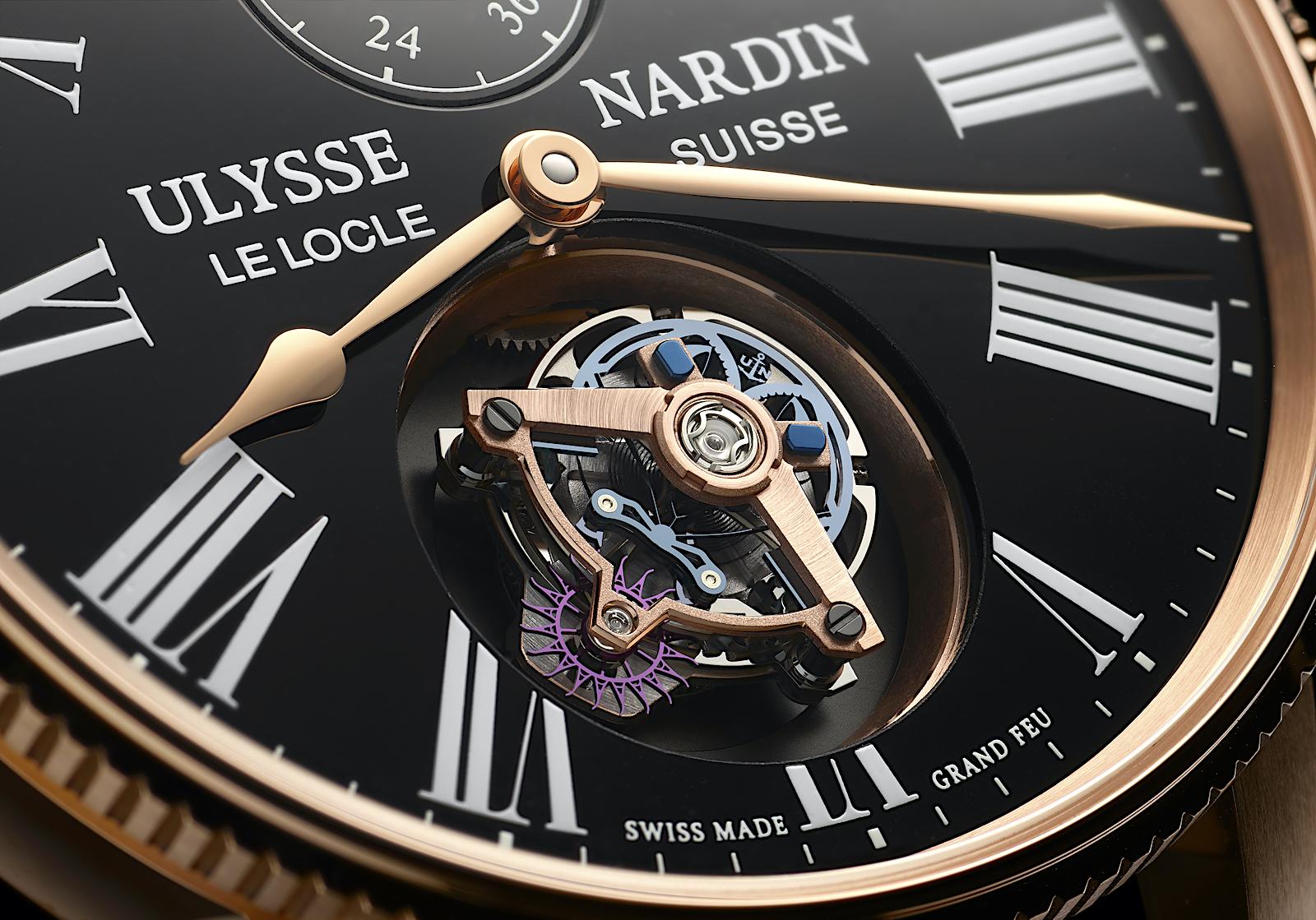 Ulysse Nardin en los Geneva Watch Days 2021 - Marine Torpilleur Tourbillon Grand Feu - detalle