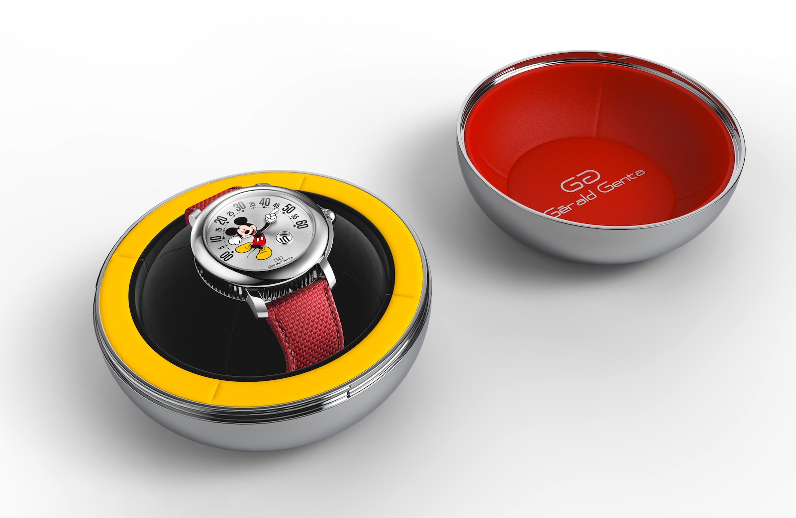 Gerald Genta Arena Retrograde Mickey Mouse - box