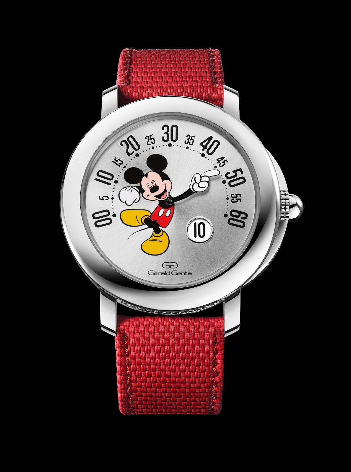 Gerald Genta Arena Retrograde Mickey Mouse - front