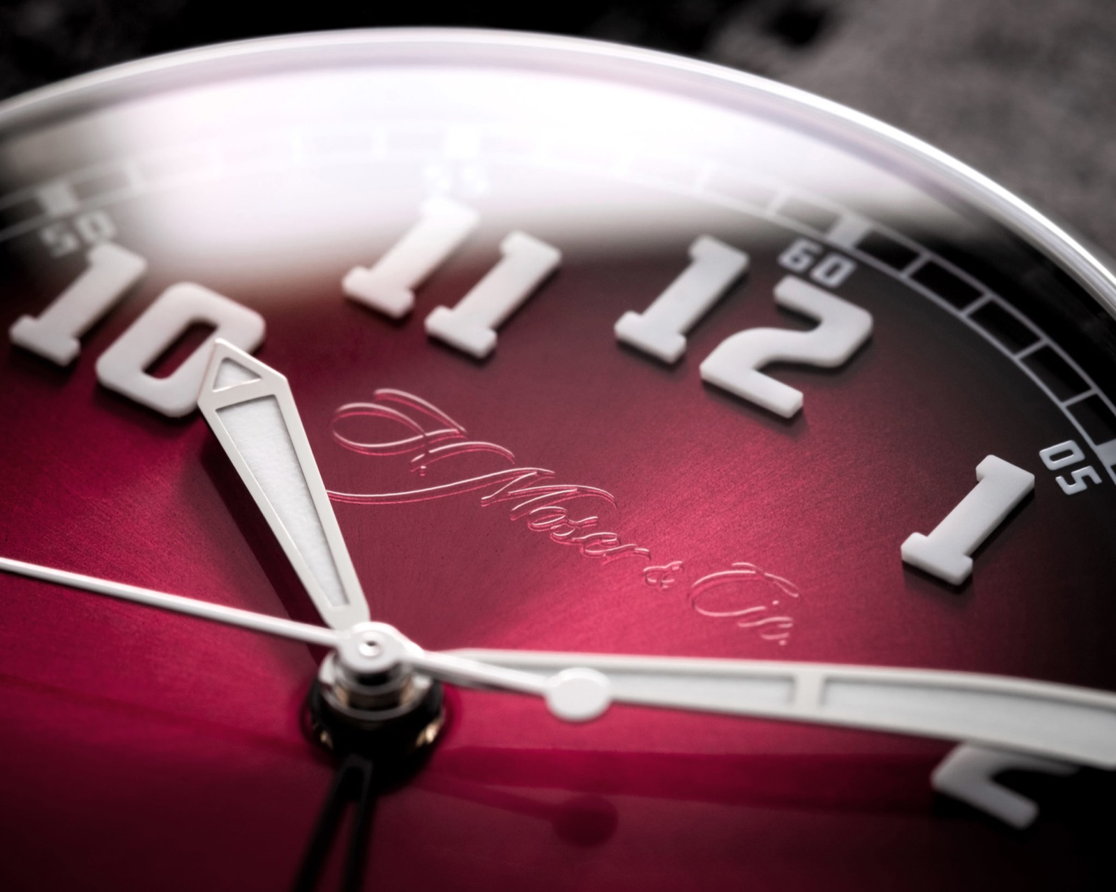 """H. Moser & Cie. Heritage Dual Time """"Burgundy"""""""